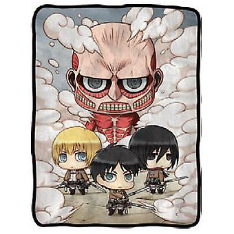 Blanket Attack On Titan SD Colossal Titan Vs. SD Characters  cfb-aot-chibi