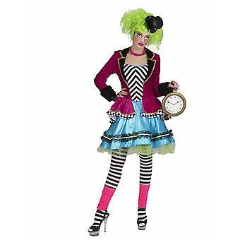 Mad Hatter Damenkostüm Wunderland Hutmacherin Fasching Karneval Kostüm Damen
