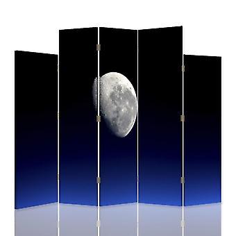 Dekorative Zimmerteiler, 5 Panels, Leinwand, Mond 2