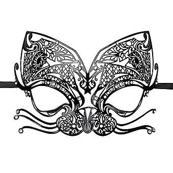 Máscara de olho metal preto