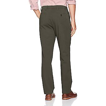 Dockers Men's Straight Fit Workday Khaki Pants with Smart 360 Flex, Storm (St...