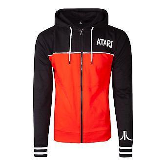 Atari kleur blok volledige lengte rits hoodie mannelijke XX-grote meerkleurige