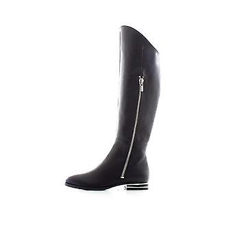 DKNY Womens Lolita Leather Tall Over-The-Knee Boots Black 8.5 Medium (B,M)