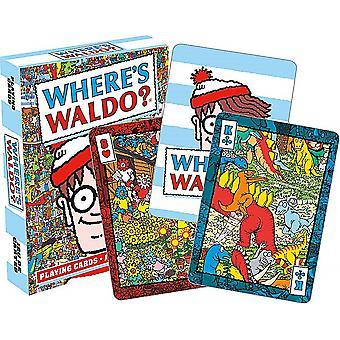 Wo befindet sich Wally? (Waldo) Satz von 52 Spielkarten (+ Joker) (nm)