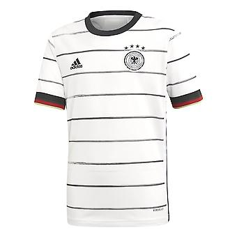 adidas Germany 2020/21 Kids Home Football Jersey Shirt White/Black