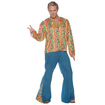 Boogie Down 1960s Disco Retro Groovy Hippie Hippy Adulte Homme Costume OS