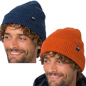 Animal Mens Ash Knitted Warm Winter Turn Up Beanie Hat - One Size