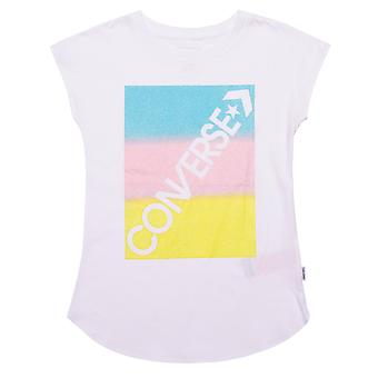 Junior Girls Converse Gradient T-Shirt en blanc
