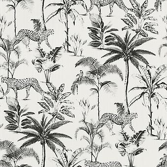 Fonds d'écran Savannah Cheetah White / Rasch noir 409017