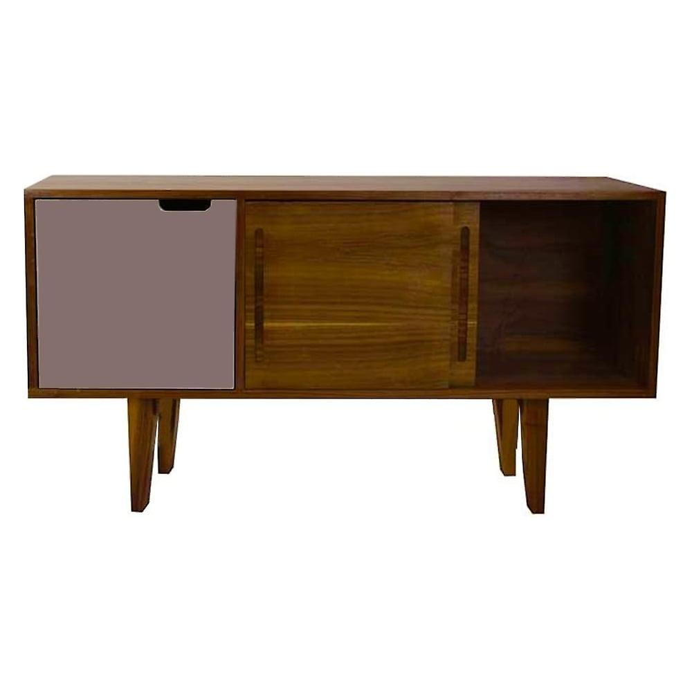 Fusion Living Modern Retro Walnut And Grey Mid Sideboard