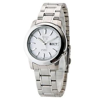 Seiko 5 Automatic White Dial Silver Stainless Steel Men's Watch SNKE49K1