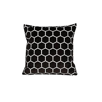 Light & Living Pillow 45x45cm Honeycomb Brown