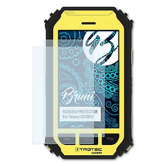 Bruni 2x Screen Protector compatible with Trotec AC080V Protective Film