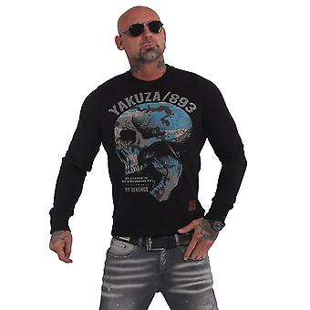 YAKUZA Mäns Sweatshirt Skull Revenge Crew
