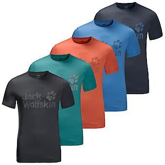 Jack Wolfskin Mens 2020 Varumärke Logo Lightwight Mjuk ekologisk T-shirt