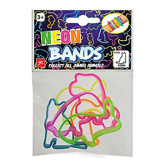 Neon Bands Bracelet Farm 6 pieces