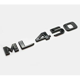 Gloss Black ML450 Flat Mercedes Benz Car Model Numbers Letters Badge Emblem For M Class W163 W164 W166 AMG