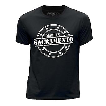 STUFF4 Boy's Round Neck T-Shirt/Made In Sacramento/Black