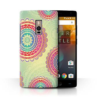 STUFF4 Case/Cover for OnePlus 2/Two/Mandala Circles/Pink Fashion