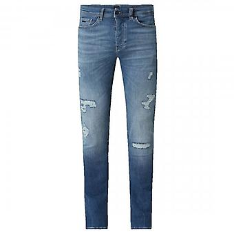 Boss Orange Hugo Boss Taber BC-P Crater Blue Tapered Fit Ripped Jeans 423 50426835