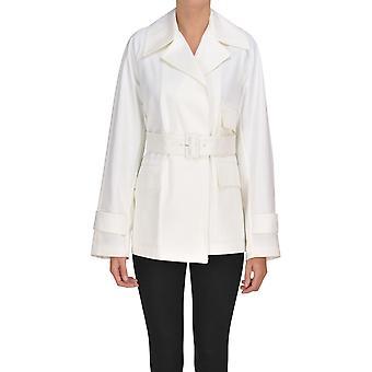 Teoria Ezgl125031 Women's White Cotton Blazer