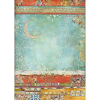 Stamperia Rice Paper Sheet A3-Moon