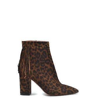 Aquazzura Regmidb0jas993 Women's Leopard Suede Ankle Boots