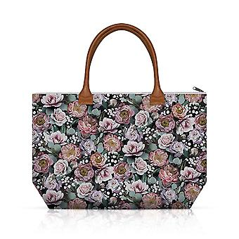 Ambiente Shopping Bag, Vintage Fiori Nero