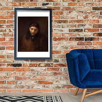 Rembrandt Harmenszoon van Rijn - Head of Christ Poster Print Giclee