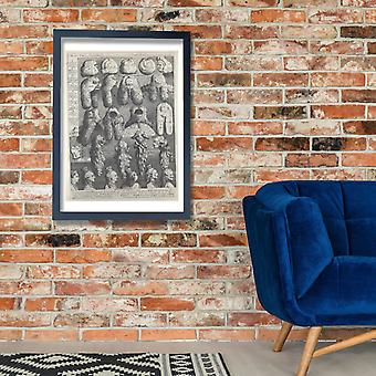 William Hogarth - The Five Orders of Perriwigs Poster Print Giclee