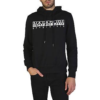 Napapijri Original Men Fall/Winter Sweatshirt - Black Color 35910