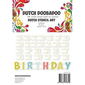Hollanti Doobadoo Hollanti Stencil Art Alphabet A-Z NR2 (26 kaavaimia) 12cm 470.990.070
