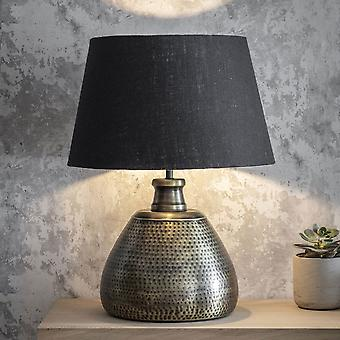 Jardin trading Kielder Grande lampe de table Crafted In Hammered Antique Brass