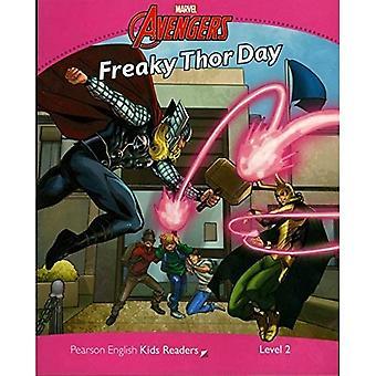 Level 2: Marvel's Avengers:Freaky Thor Day (Pearson English Kids Readers)