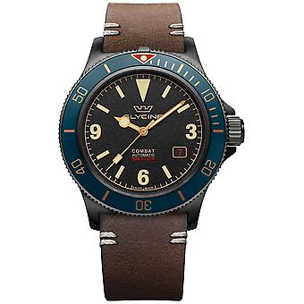 Combat Automatic Analog Men's Watch with Cowskin Bracelet GL0270