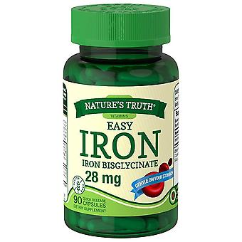 Nature's truth easy iron, 28 mg, quick release kapsler, 90 ea