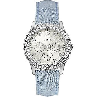Guess women's w0336l7 leather quartz wrist watch