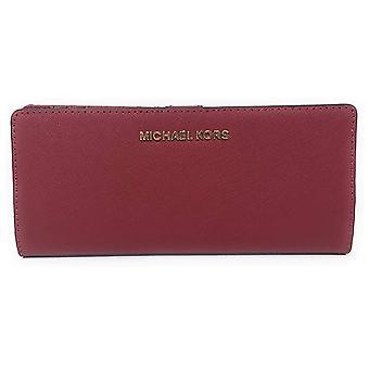 Michael kors jet set travel medium flat slim bifold leather wallet scarlet red