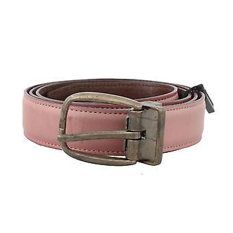 Pink shiny leather gold vintage buckle belt