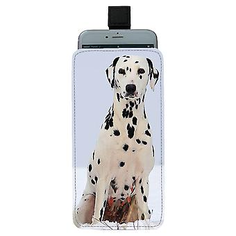 Dalmatian Koira Pull-up Mobile Bag