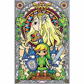 Zelda, Maxi Poster - Glass painting