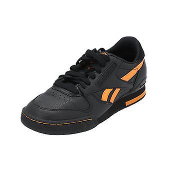 ريبوك كلاسيك المرحلة 1 PRO DL المرأة أحذية رياضية سوداء أحذية رياضية