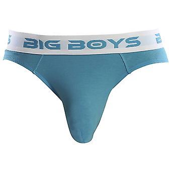 Big Boys Mini Briefs - Cyan Blue