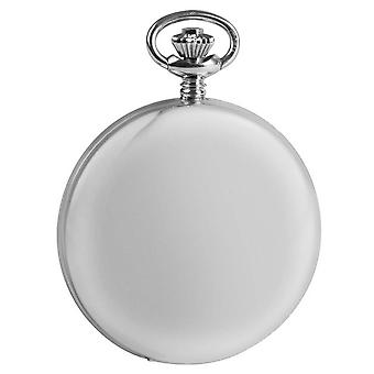 Woodford Sterling Silver Double Full Hunter Skeleton Pocket Watch - Silver