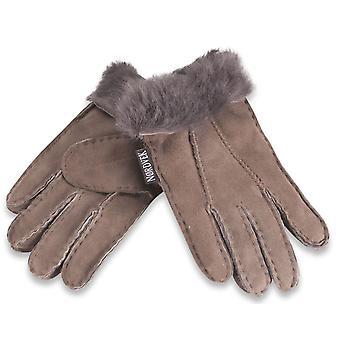 Nordvek Childrens 100% Genuine Sheepskin Gloves With Fur Cuff 313-100