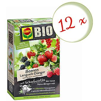 Sparset: 12 x COMPO ORGANIC berries long-term fertilizer with sheep wool, 2 kg