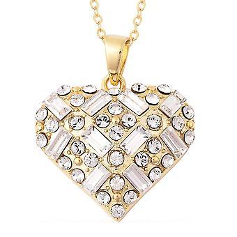 TJC Heart gemaakt met Swarovski Crystal Sterling Zilveren Ketting Hangketting