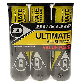Dunlop Ultimate All Surface Tennis Ball Tri Pack Alle sportaccessoires voor de hoven