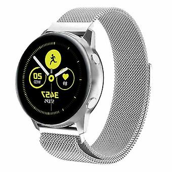 Voor Samsung Galaxy Watch Active 2 Strap Milanese Band Stainless Steel Magnetic[Zilver]