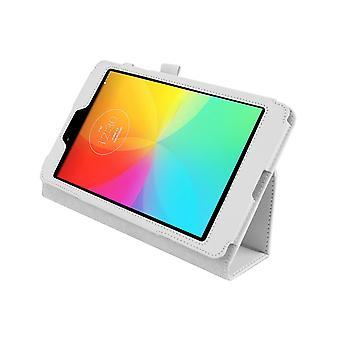 """Cubierta de la caja de cuero de la PU magnética para LG G Pad 8.0 V480 8""""[Blanco]"""